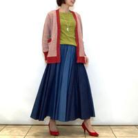 【NOUQUE/ヌーク】3色デニムのフレアースカート