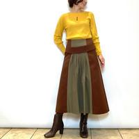 【Apaiser lame/アペゼラム】フロント切り替えの台形スカート
