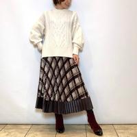 【Brahmin/ブラーミン】チェックプリーツスカート
