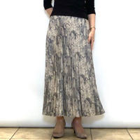 【BEATRICE/ベアトリス】レオパードプリントのプリーツスカート