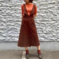 【NOUQUE/ヌーク】Vカットジャンパースカート