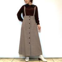 【Mylanka/ミランカ】ハイウエストチェックジャンパースカート