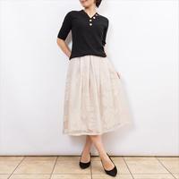 【Coomb/クーム】リーフ柄のシースルースカート