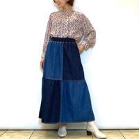 【CAPIS/カピス】パッチワークデニムスカート