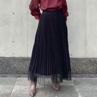 【C'est  MOIJEU/セモワージュ】裾チュールプリーツスカート