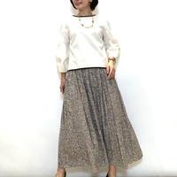 【PORTCROS/ポートクロス】変形ドットのロングギャザースカート