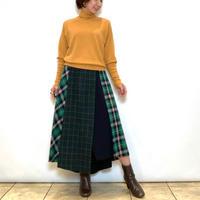 【BEATRICE/ベアトリス】チェック切り替えのアシンメトリースカート