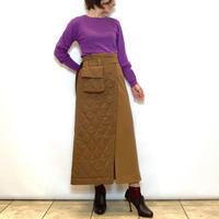 【PASSIONE/パシオーネ】ウエストポーチ付きキルティング切り替えスカート