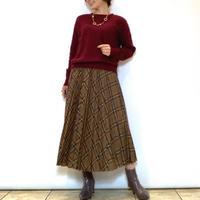 【Brahmin/ブラーミン】タータンチェックプリーツスカート