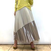 【BEATRICE/ベアトリス】光沢バイカラーのプリーツスカート