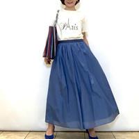 【Apaiser l'ame/アペセラム】コットンシルクのフレアースカート
