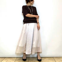 【Mia Asterism/ミーアアステリズム】サテン×シフォン切り替えスカート