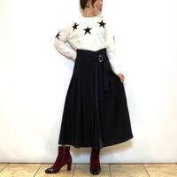 【BEATRICE/ベアトリス】サテン切り替えのハイウエストスカート