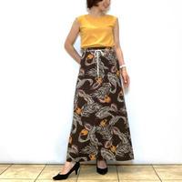 【BEATRICE/ベアトリス】ボタニカル柄のリネン調スカート