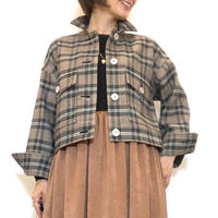 【Brahmin/ブラーミン】タータンチェックショートジャケット