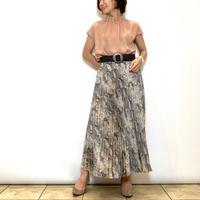 【BEATRICE/ベアトリス】パイソン柄のプリーツスカート