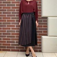 【FIGNO/フィグノ】縦ストライプ巻き風スカート