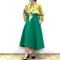 【PASSIONE/パシオーネ】イレギュラーヘムラインのフレアースカート