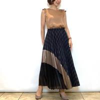 【BEATRICE/ベアトリス】異素材切り替えのプリーツスカート
