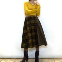【C'EST MOIJEU/セモワージュ】チェック切り替えの巻きスカート