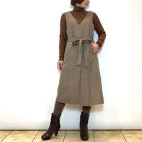【Coomb/クーム】千鳥格子のVカラージャンパースカート
