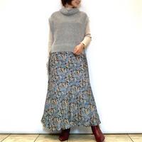 【Brahmin/ブラーミン】花柄サテンマーメイドスカート