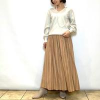 【BEATRICE/ベアトリス】ストライプギャザースカート