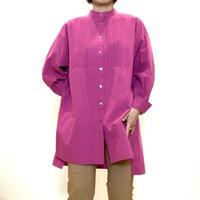 【Coomb/クーム】スタンドカラーのロングシャツ