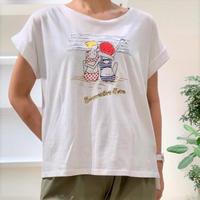 【BEATRICE/ベアトリス】ビーチガール刺繍Tシャツ