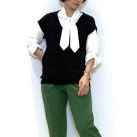 【Re.Verofonna/ヴェロフォンナ】ニットドッキングのタイブラウス