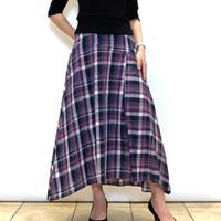 【Atelier Six/アトリエシックス】チェックのアシンメトリースカート
