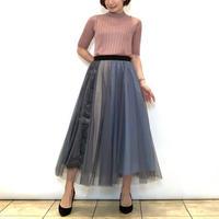 【PASSIONE/パシオーネ】グラデーション使いのチュールスカート