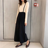 suspender wide pants