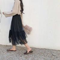 black tulle skirt