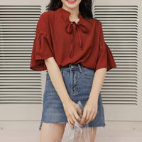 peplum sleeve blouse