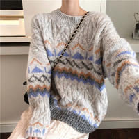 loose triangle knit