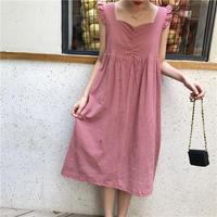 peach frill dress