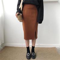 lady slit skirt