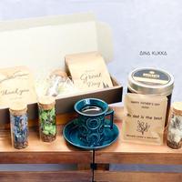 [ COFFEE GIFT  SET]珈琲豆のボトルフラワーM+メッセージドリップバック2種5個セット