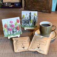 [Flower & Coffee SET]ミニフラワーキャンバス+メッセージドリップバック2種8個