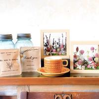 [Flower & Coffee SET]ガラスフレームアレンジ(カラー2種)+メッセージドリップバック2種5個