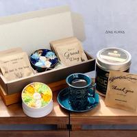 [Flower & Coffee SET]]BoxS(カラー2種)/メッセージドリップバック8個