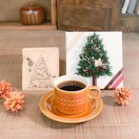Xmas[Flower & Coffee SET]ツリーキャンバスアレンジ+メッセージドリップバック5個