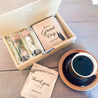 [Flower & Coffee SET]珈琲豆のボトルフラワーM2個+メッセージドリップバック2種5個セット