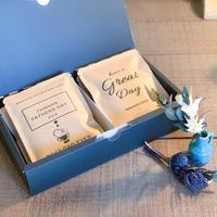 父の日[ COFFEE GIFT  SET]メッセージドリップバック2種10個+ミニ花束
