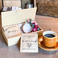 [Flower & Coffee SET]ミニリース(ヘリクリサム)+メッセージドリップバック2種5個
