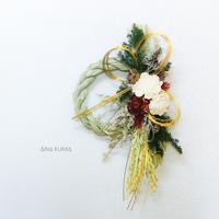 お正月[しめ縄飾り]花咲み/ドライ・プリザーブドフラワー