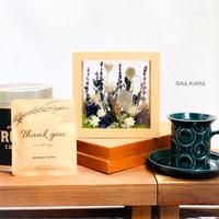 [Flower & Coffee SET]ガラスフレームアレンジ(ブルーガーデン)+メッセージドリップバック5個