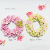SPRING[ミニリース]桜ピンクカラー2種/アーティフィシャルフラワー