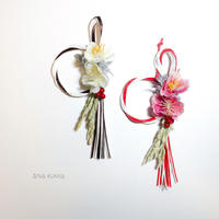お正月[ミニ水引飾り]ほほえみ/アーティフィシャルフラワー